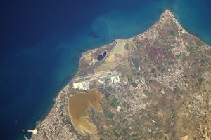 larnaca-airport from ISS-thomas pesquet